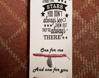 Pink Friendship Bracelet and Poem