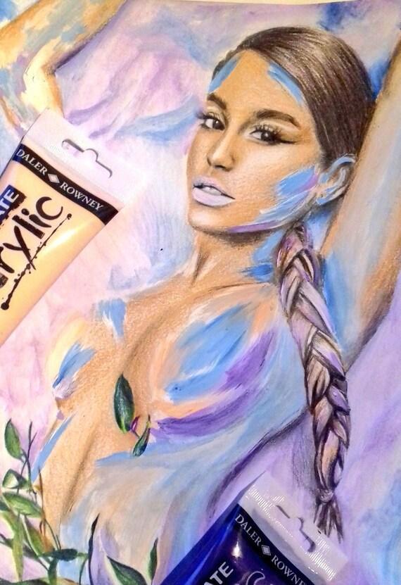 Disegnopittura Di Ariana Grande Dio è Una Donna Etsy