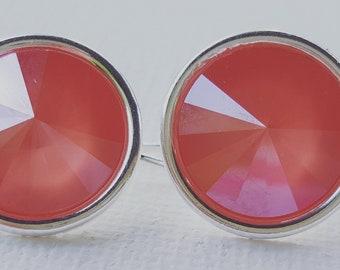 Creamsicle Orange Swarovski Droplet Earring