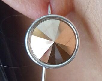 Rosie Gold Swarovski Droplet Earrings
