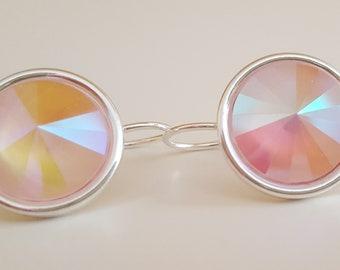 Unicorn Pink Swarovski Droplet Earrings