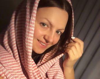 Blanket Scarf, Pink blanket scarf, Beach towel shawl scarf, Scarf gift , Oversized scarf, Oversized pink scarf, Monogrammed Scarf, Wrap