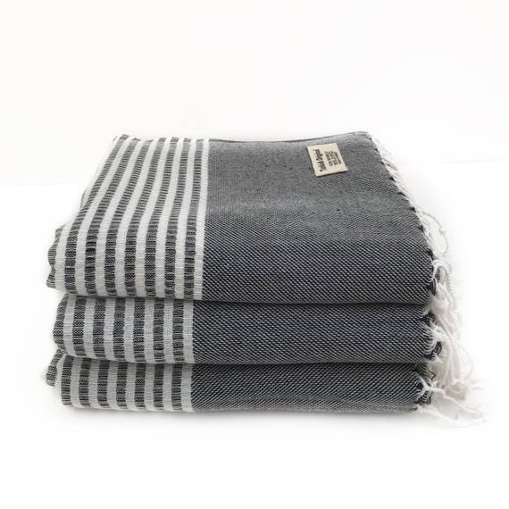 8c78adc95c Personalized Turkish Towels Set of 3 Bamboo Towel Set Gift for