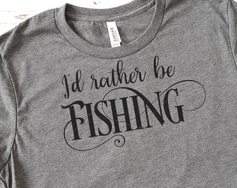 I'd Rather Be Fishing Svg - Fishing shirt SVG - Commercial use SVG - Svg Files Sayings - Quotes for Fisherman - Father's Day - Grandpa Svg