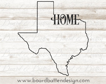 TX Home Svg Files - Texas Cutting File - TX Home Dxf for Silhouette - TX State Outline Svg File - Texas Cut File Commercial use