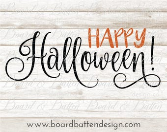 Happy Halloween Svg Files - Halloween Cut Files - Cuttable File for Halloween - Svg Downloads - Digital Download Svg - Silhouette Files