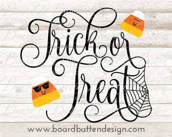 Halloween Svg Files for Cricut - Trick Or Treat Svg - Halloween Svg Cut File - Candy Corn Svg - Halloween Cut File - Eps Png Dxf