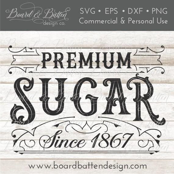 Vintage Svg Sugar Svg Kitchen Svg Designs Elaborate Etsy