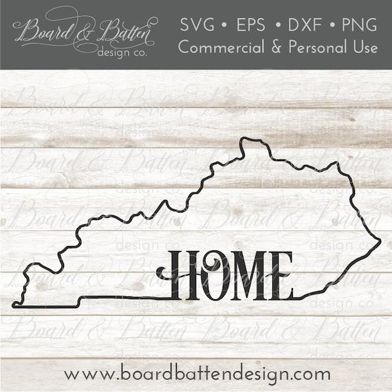 Ky State Outline Svg File Kentucky Svg File Ky Home Svg Etsy