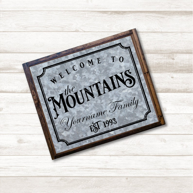 Welcome To The Mountains Svg File Editable Svg Welcome Etsy