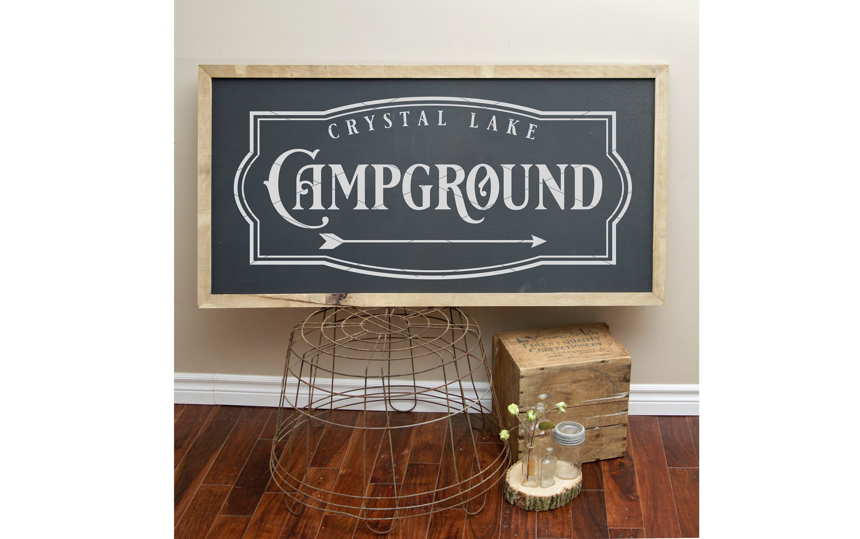 Crystal Lake Campground Svg File Friday The 13th Crystal Etsy
