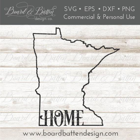 Mn State Outline Svg File Minnesota Cut File Mn Home Svg Etsy