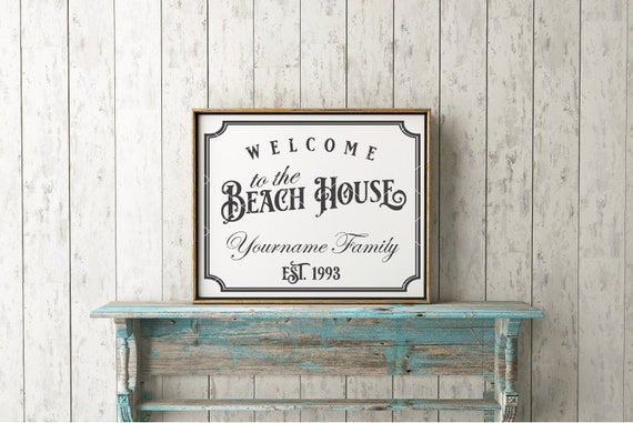 Welcome To The Beach House Svg File Beach House Cut File Etsy