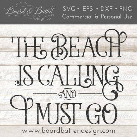 Beach SVG File Designs - The Beach Is Calling Svg - Svg Cutting Files for  Wood Signs - Vector Svg - Commercial Use SVG Files - Cuttable SVG