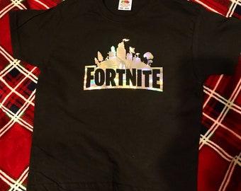 f60085bfa Fortnite tshirt Black Fortnite tshirt gaming tshirt chlidrens fortnite  tshirt youth tshirt kids fortnite tshirt kids gaming tshirt
