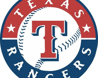 Texas Rangers  Cornhole Decals / SET of 2   #1