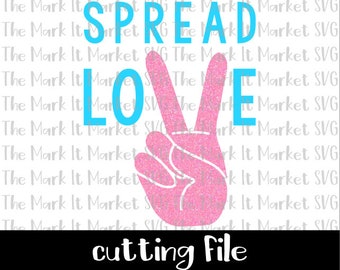 Spread Love SVG/DXF cutting file