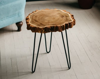 Wood Slab Table Etsy