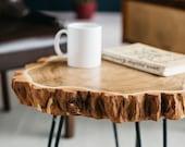 Wood Slab Coffee Table, Live Edge Coffee Table, Rustic Wood Slab Coffee Table, Modern Hairpin Legs End Table, Mid Century Coffee Table