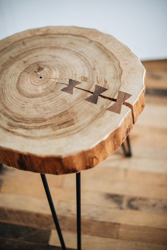 Wondrous Side Coffee Table Round Coffee Table Butterfly Joint Table Rustic Wood Slab Coffee Table Modern Hairpin Legs End Table Mid Century Table Lamtechconsult Wood Chair Design Ideas Lamtechconsultcom