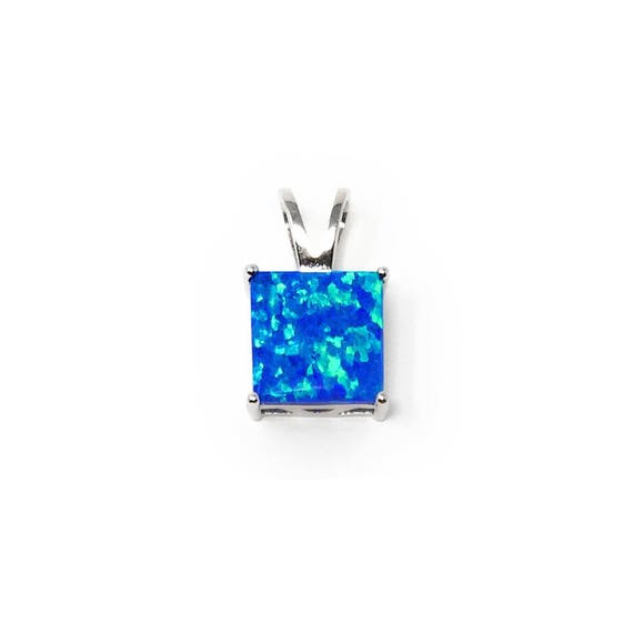 Synthetic Opal Sterling Silver 925 Hawaiian Pineapple Charm Pendant Necklace