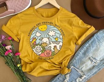 c1d9bc6a Friends Not Food, Vegan Shirt, Vegan T-Shirt, Mens Vegan Shirt, Vegan T  shirt, Womens Vegan Shirt, Be Kind Shirt Womens