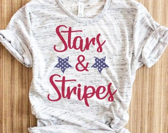 5a8099f6 Stars And Stripes Shirt, Womens Fourth Of July Shirt, Fourth of july shirt,  Fourth Of July Shirts,