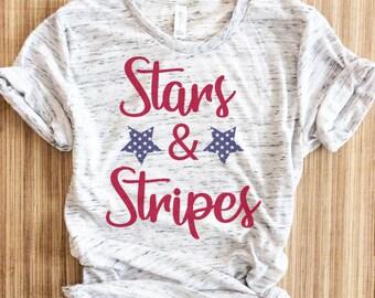 4aa7fcd2 Stars And Stripes Shirt, Womens Fourth Of July Shirt, Fourth of july shirt,  Fourth Of July Shirts,