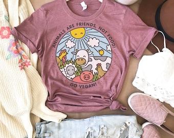 c50a63720 Friends Not Food, Vegan Shirt, Vegan T-Shirt, Mens Vegan Shirt, Vegan T  shirt, Womens Vegan Shirt, Be Kind Shirt Womens