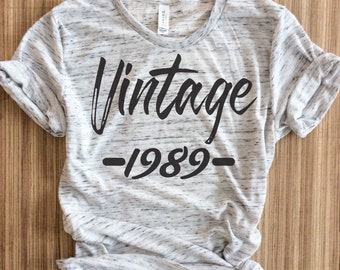 30th Birthday Shirt Dirty Thirty Vintage 1989 1990 T