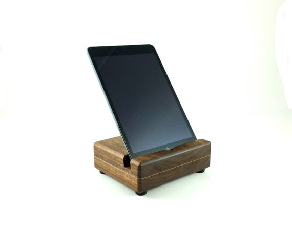 Houten tablet houder docking station keuken ipad tablet etsy