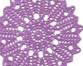 Crochet Doily Small Crocheted Doilies Home Decor Handmade Tablecloth Wedding Table Decoration Modern Home Interior Round Vintage Style Lilac