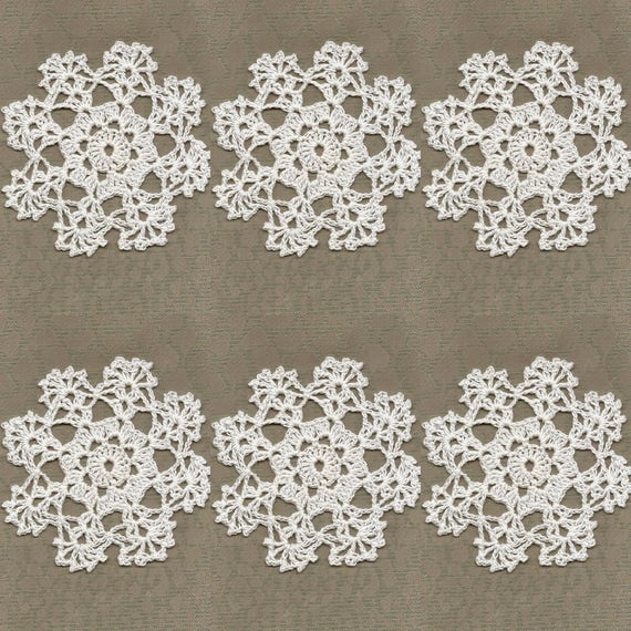 6 X Häkeln Mini Deckchen Handarbeit Häkeln Verschönerung Etsy