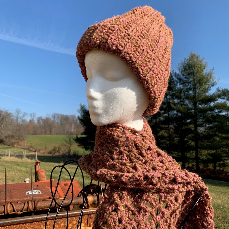 100% Alpaca Hat and Matching Scarf image 0