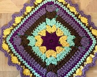 Mosaic Crochet Potholder Pattern - Crochet Diamond Potholder Pattern - Crochet Hot Pad Pattern