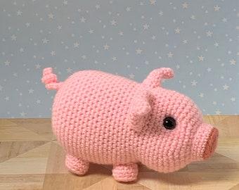 Crochet Pig Pattern - Realistic Crochet Baby Pig Pattern - Crochet Baby Piglet Doll Pattern