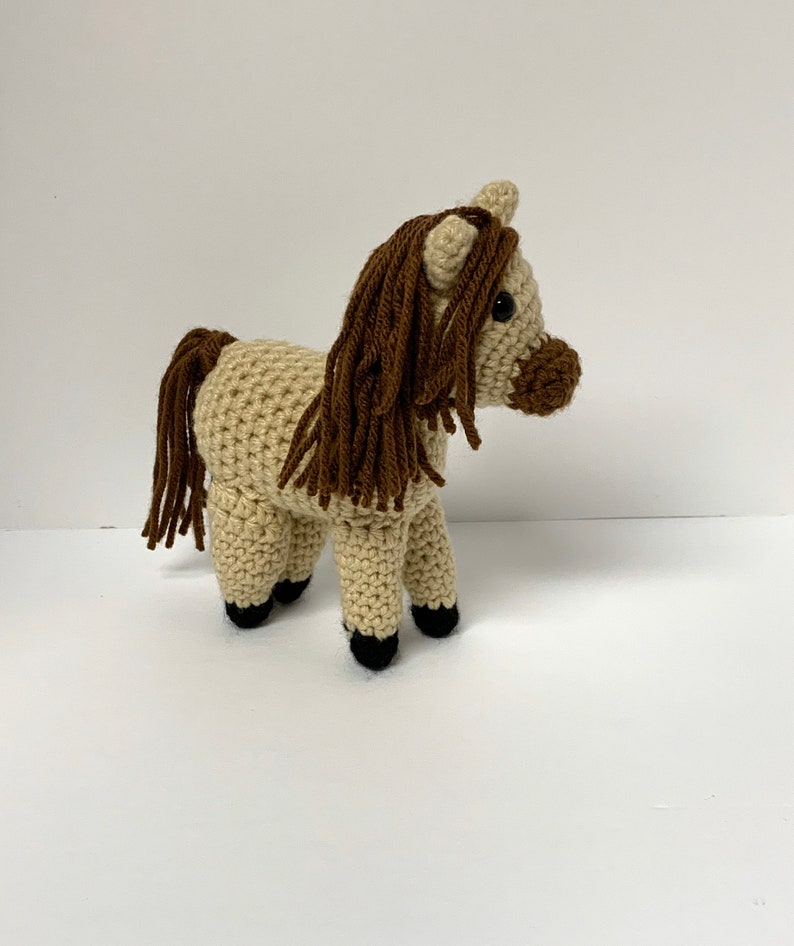 Crochet Horse Pattern  Crochet Pony Pattern  Small Horse image 0