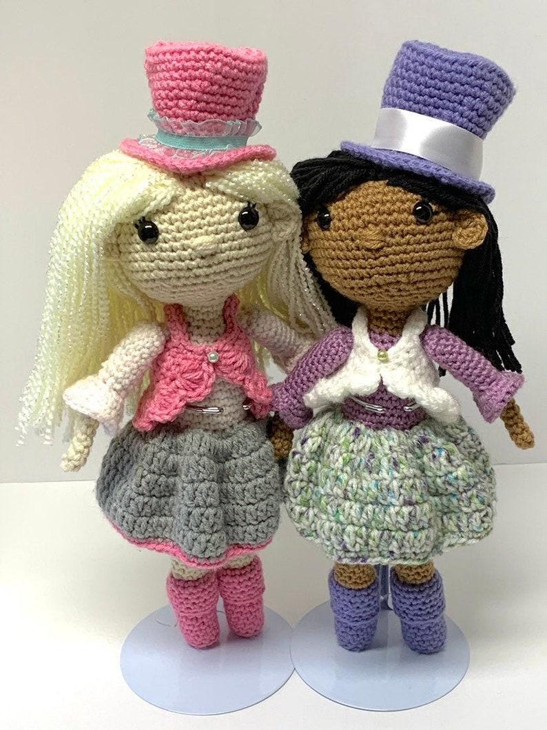 Crochet Princess Girl Pattern  Fancy Crochet Top Hat Girl image 0