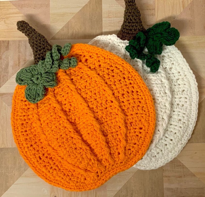 Crochet Pumpkin Potholder Pattern  Crochet pumpkin Pattern  image 0