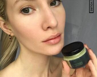 GREEN TEA MASK - facial mask - matcha green tea - matcha clay mask - purifying mask - clay facial mask - antioxidant mask - vegan face mask