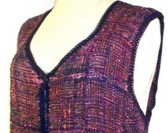 Pin Loom Weaving Basic Vest Pattern pdf instant download no shipping Zoom Loom Squares Custom Design DIY