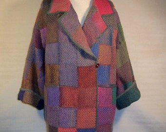 Pin Loom Weaving Jacket Pattern pdf instant download no shipping cost Zoom Loom Squares Custom Design DIY