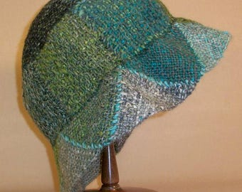 Pin Loom Weaving Bell Style Hat Pattern pdf instant download no shipping cost Zoom Loom Squares Custom Design DIY