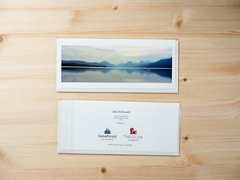 Artist Card  Panoramic  Lake McDonald by Ting-Li Lin image 0