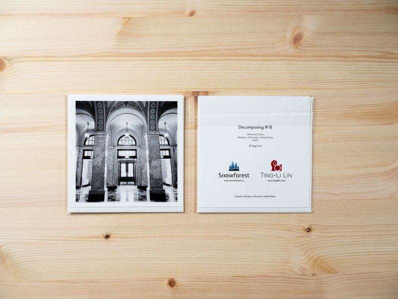 Artist Card  Square  Decomposing 18 by Ting-Li Lin image 0
