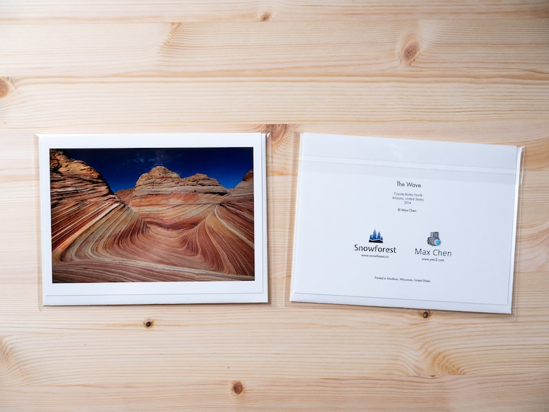 Artist Card  Large  The Wave by Max Chen image 0