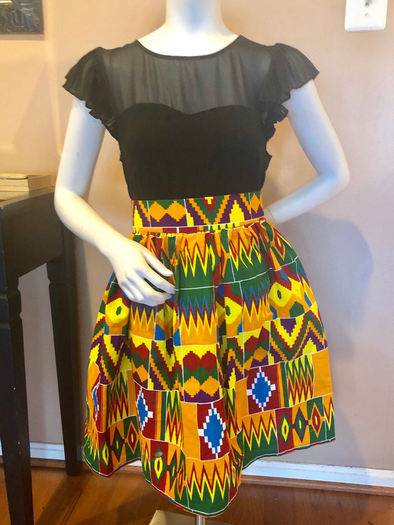 Kente  Skirt African Print      Skirt Kente Skirt The Miaye Kente Skirt Summer Skirts Ankara  Skirt