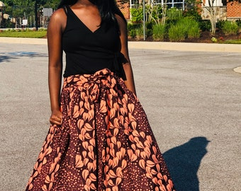 The Miaye Skirt, Ankara Skirt, African Print  Skirt, Kente  Skirt, Summer Skirts