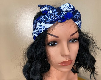 Ankara wire headband, Headband, wire head tie, African Print Headband, Turbans, Head Wrap