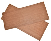 Makore Raw Wood Veneer 2 Sheets at 9.5 x 23 inches 1 42nd or .6mm thick